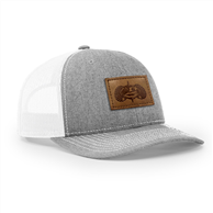 TOADFISH LEATHER PATCH HAT - GRAY/LEATHER PATCH VENTED