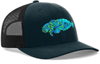 TOADFISH THE OL TOAD - NAVY/EMBROIDERY VENTED SNAP BACK